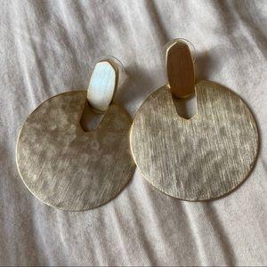 Kendra Scott Hammered Gold Finish Earrings